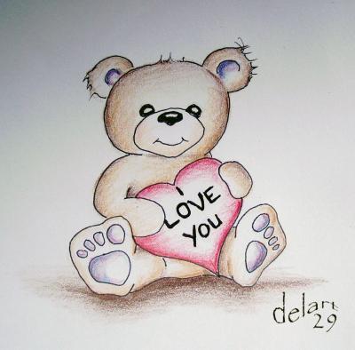 Teddy bear un monde de dessin - Desin d amour ...
