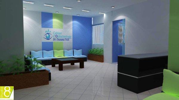 projet cabinet d 39 ophtalmologie graphiste3d. Black Bedroom Furniture Sets. Home Design Ideas