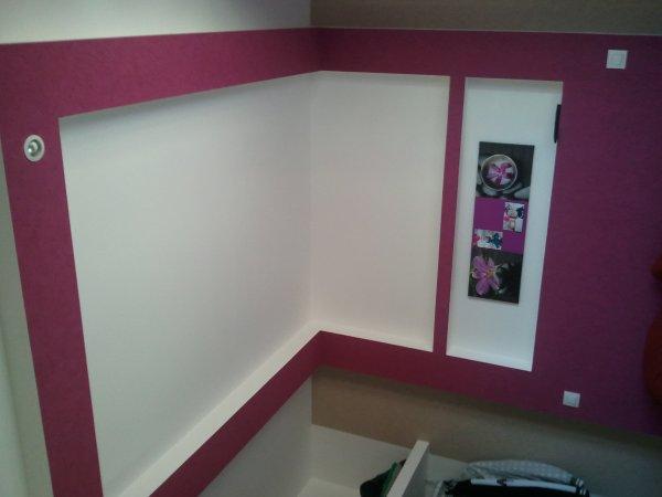 t te de lit en placo placo deco86. Black Bedroom Furniture Sets. Home Design Ideas